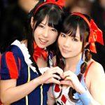 【コスプレエロ動画】ハロウィンの渋谷で見つけた美少女を酔わせてレズSEX