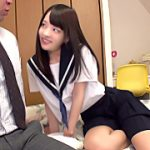 【コスプレエロ動画】ドSなパイパン女子校生と制服コスプレで中出しSEX!